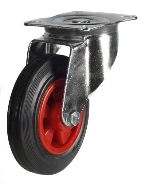 DR Series; Pressed steel/black rubber tyre cator