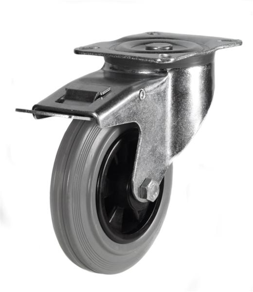 Industrial Grey Rubber castors