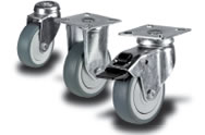 Rubber (grey) Castors