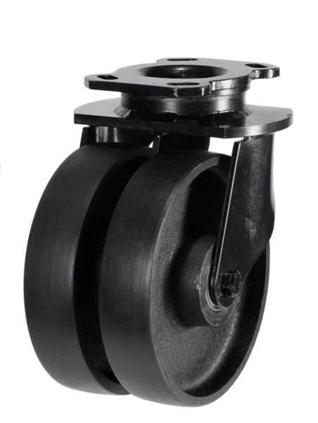 NGR Series; Heavy Duty Fabricated Steel/Cast Iron Wheel Castors