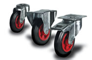Rubber (black) Castors