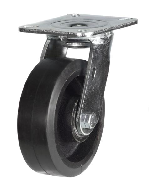 LMH Series; Fabricated Steel/Black rubber castors