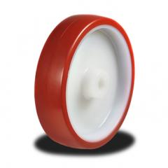 125mm wheel  with a Poly tyre on a Nylon Centre; 180Kg Capacity
