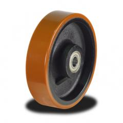 100mm Poly tyre on Cast Iron Centre wheel with 295Kg Capacity