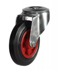 M12 Bolt Hole castor 125mm wheel diameter upto 100kg capacity