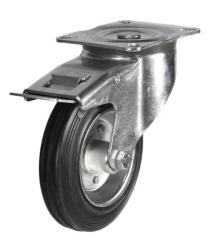Braked castor 160mm wheel diameter upto 135kg capacity