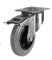 Braked castor 100mm wheel diameter upto 70kg capacity