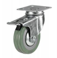Braked castor 50mm wheel diameter upto 40kg capacity