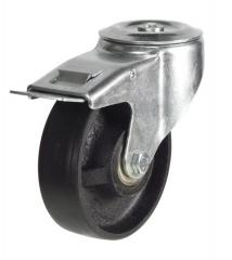 M12 Bolt Hole Braked castor 200mm wheel diameter upto 350kg capacity