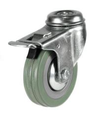 M10 Bolt Braked castor 75mm wheel diameter upto 50kg capacity