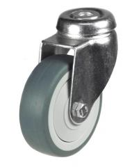M10 Bolt Hole castor 75mm wheel diameter upto 50kg capacity