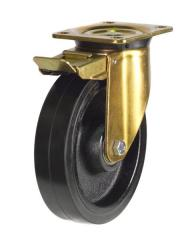 Braked castor 200mm wheel diameter upto 500kg capacity