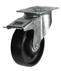 Braked castor 150mm wheel diameter upto 350kg capacity