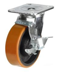 Braked castor 100mm wheel diameter upto 380kg capacity