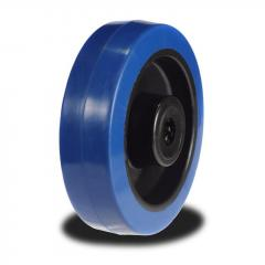 80mm Wheel with Blue Elastic Rubber on Nylon Centre 150Kg Capacity