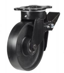 Braked castor 150mm wheel diameter upto 800kg capacity