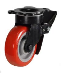 Braked castor 125mm wheel diameter upto 340kg capacity