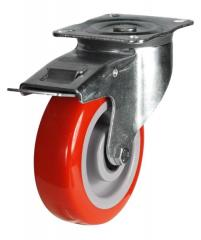 Braked castor 125mm wheel diameter upto 220kg capacity
