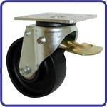 Braked castor 200mm wheel diameter upto 750kg capacity