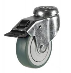 M10 Bolt Braked castor 100mm wheel diameter upto 60kg capacity