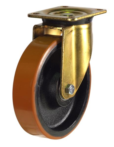 GDH Series;Heavy Duty Pressed Steel /Poly Cast Wheel Castors - 150mm/200mm
